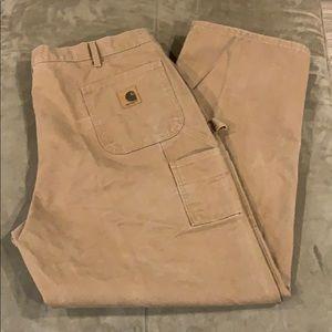 Men's Carhartt Dungaree Fit Work Pants Cargo 44x32